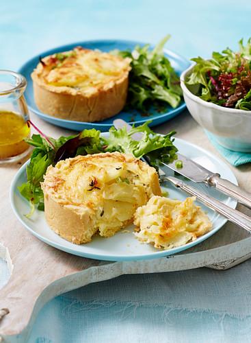 Potato gratin quiche