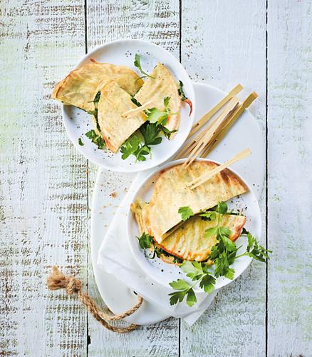 Low-carb quesadillas