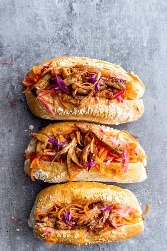 Banh mi sandwich with pork (Vietnam)