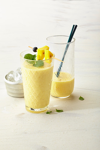 Mango and peach smoothie