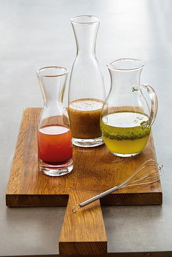 Three vinaigrette variations