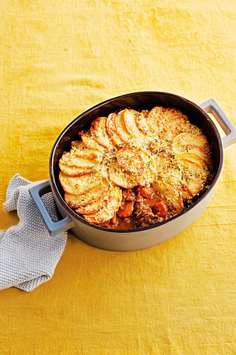 Crispy-topped french beef and beer stew