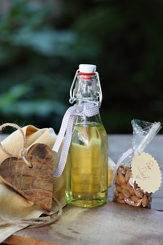 Almond oil and almonds as a gift