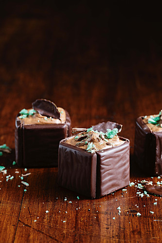 Chocolate mint boxes