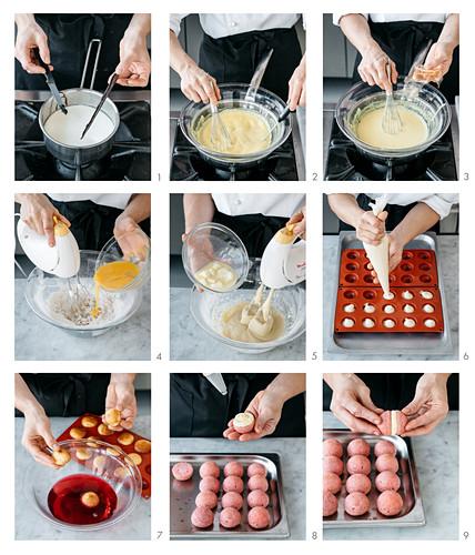 Mini baba mit Alchermes (Kräuterlikör) zubereiten