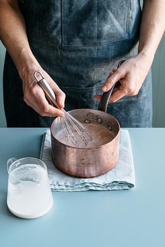 Dark Chocolate Pudding with Nocino Liqueur