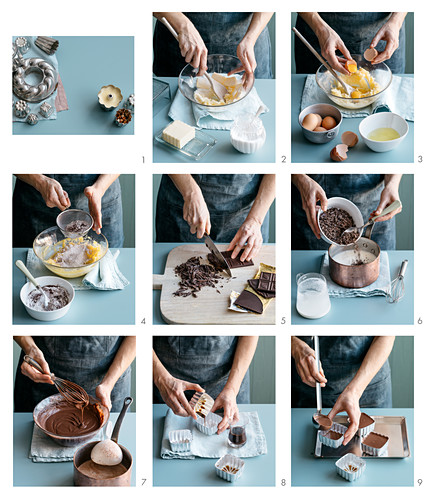 Preparing Dark Chocolate Pudding with Nocino Liqueur
