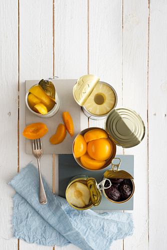 Sugared tinned fruit