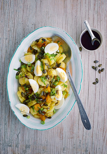 Styrian potato salad with hard-boiled eggs