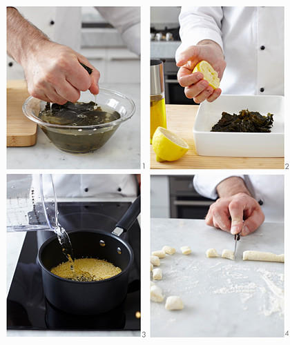 Preparing Millet Dumplings with Seaweeds and Saffron
