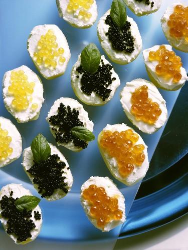 Assorted Caviar Appetizers