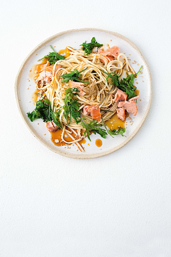 Kale and noodle plate