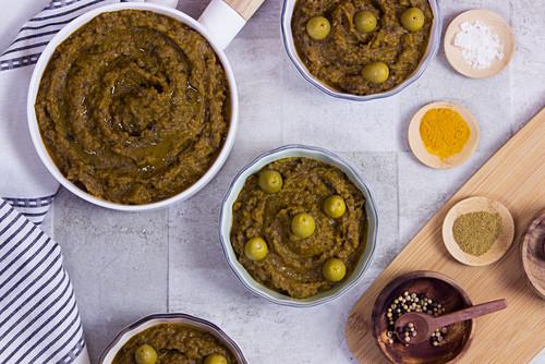 Zaalouk (aubergine dip, Morocco)