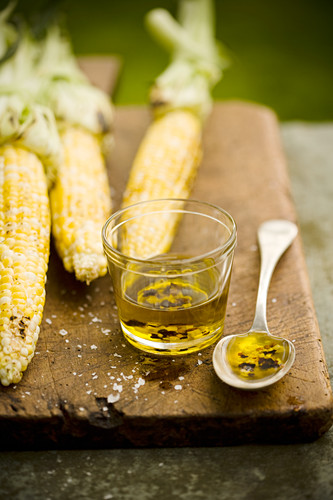 Chili Marinade with Roasted Corn