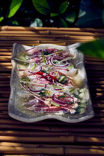 Fish fillets in a lemongrass marinade