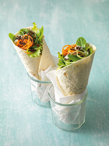 Aceto lentil wraps with dill cream
