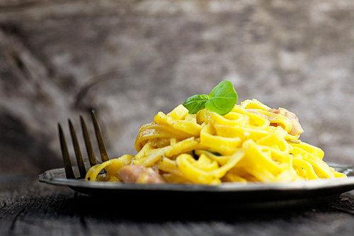 Pasta Carbonara (Nahaufnahme)