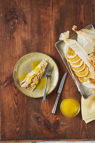Pollack fillet with orange butter