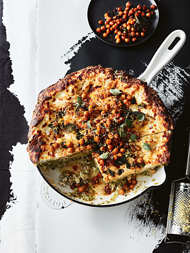 Gluten-free zesty chicken and broccolini lasagne