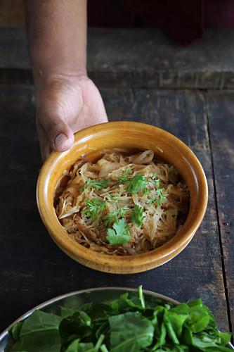 Aloo Sipsip (potato dish, Tibet, Asia)