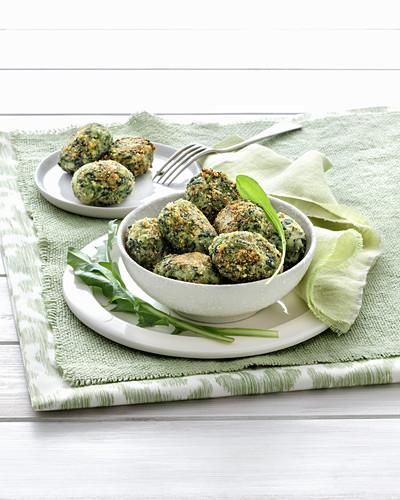 Dandelion and potato dumplings