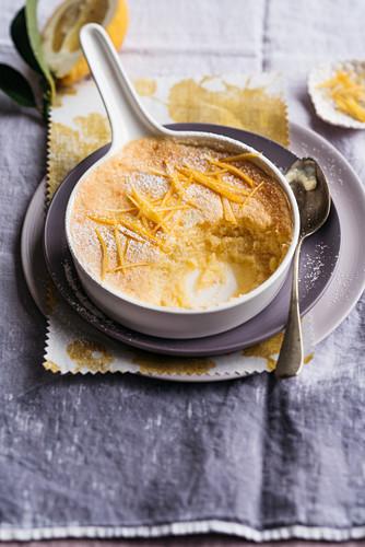 Gebackener Zitronenpudding