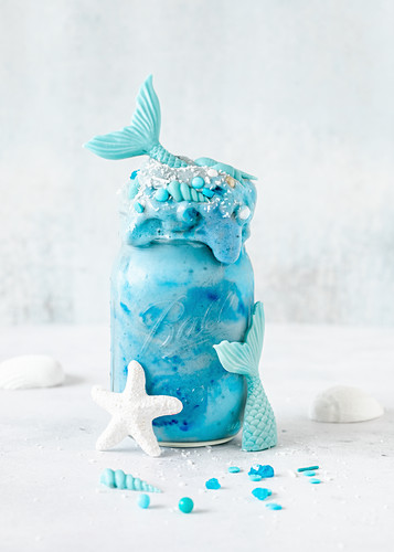 A blue mermaid shake