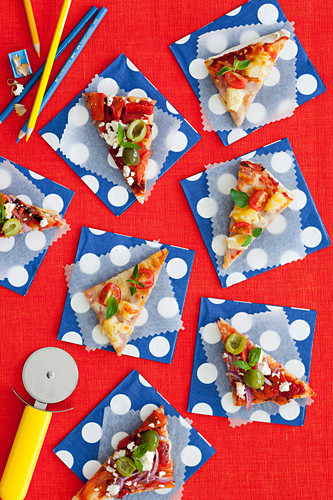 Mini pizza wedges