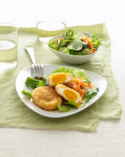 Poached and breadcrumbed eggs, Italy