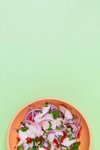 Ceviche with chilli and coriander