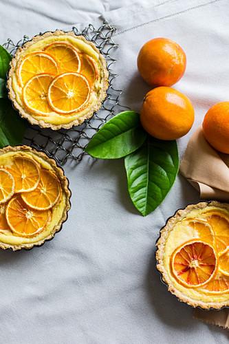 Orange tartlets