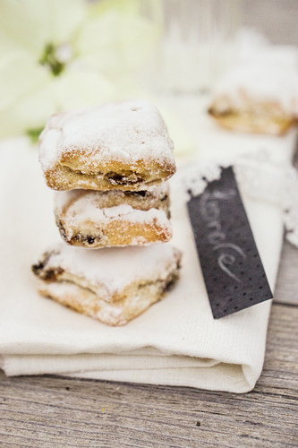 Stollen biscuits for Christmas