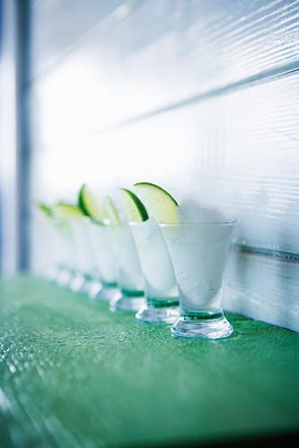 Caribbean frozen vodka lemon