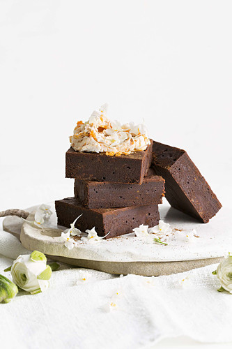 Sweet potato and dark chocolate brownies