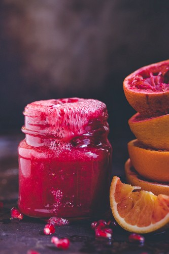 Pomegranate and blood orange smoothie