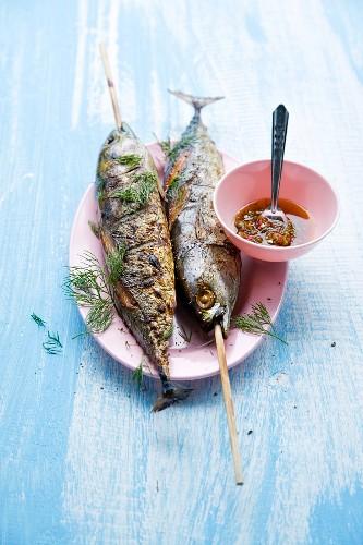 Pla Ooh Yang (whole grilled tuna fish, Thailand)