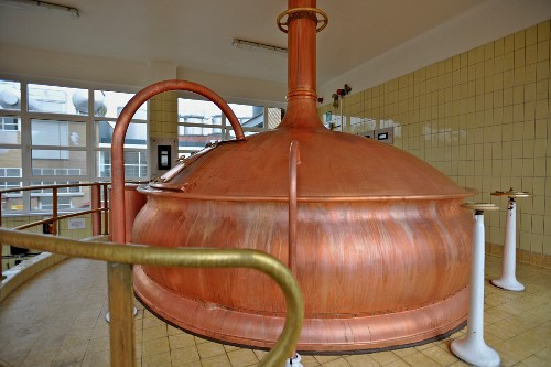 Belgian beer (Mort Subite, Lambic) in the brewery