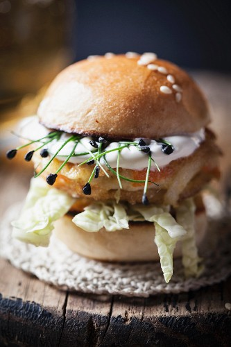 A mini fish burger