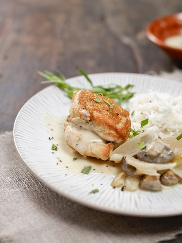 Riesling chicken with mushrooms