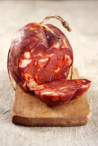 Ventricina (salami from Abruzzo, Italy)