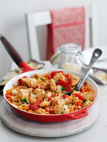 Chicken and vegetable jambalaya