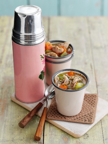 Healthy chicken soup to take away