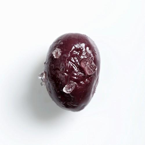 A Marmarabirlik olive preserved in salt