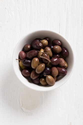 Olive taggiasche (olives from Liguria, Italy)