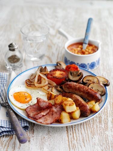 A classic English breakfast