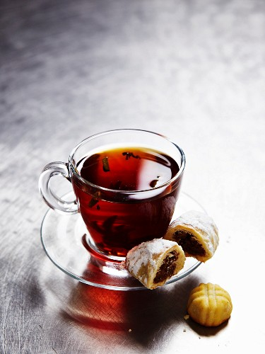 Tea and sweet pastries from the Middle East