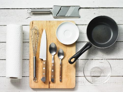 Kitchen utensils for making mushroom carpaccio