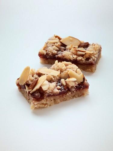 Raspberry and almond bars