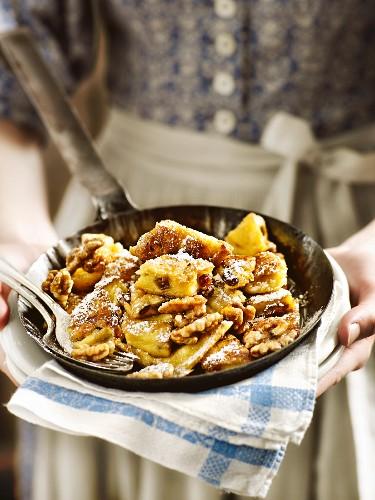Bavarian Kaiserschmarrn (shredded sugared pancake)