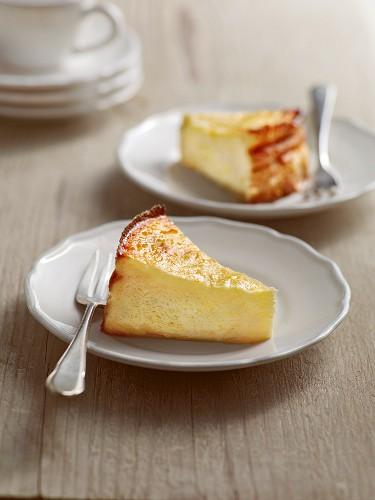 Bavarian no-crust cheesecake